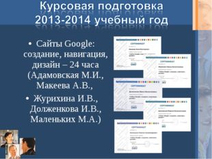 Сайты Google: создание, навигация, дизайн – 24 часа (Адамовская М.И., Макеева