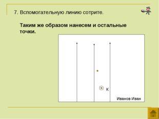 7. Вспомогательную линию сотрите. Иванов Иван К Таким же образом нанесем и о