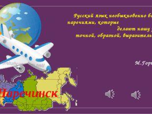 Русский язык необыкновенно богат наречиями, которые делают нашу речь точной,
