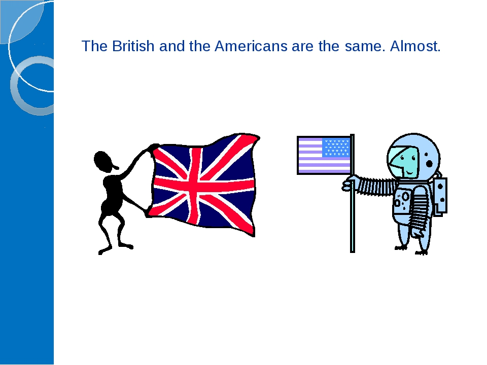 The British and the Americans are the same. Almost.