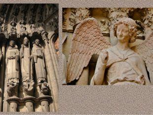 Статуи мучеников с портала Шартрского собора (Франция) Скульптура улыбающегос