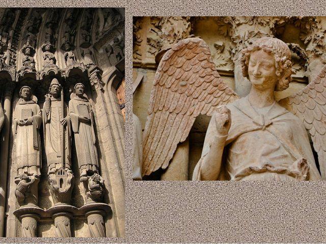 Статуи мучеников с портала Шартрского собора (Франция) Скульптура улыбающегос...