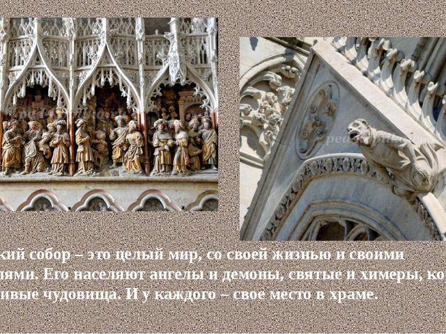 Готический собор – это целый мир, со своей жизнью и своими обитателями. Его н...