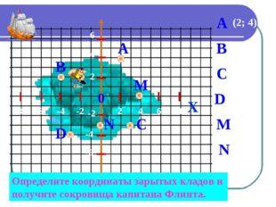 X Определите координаты зарытых кладов и получите сокровища капитана Флинта.