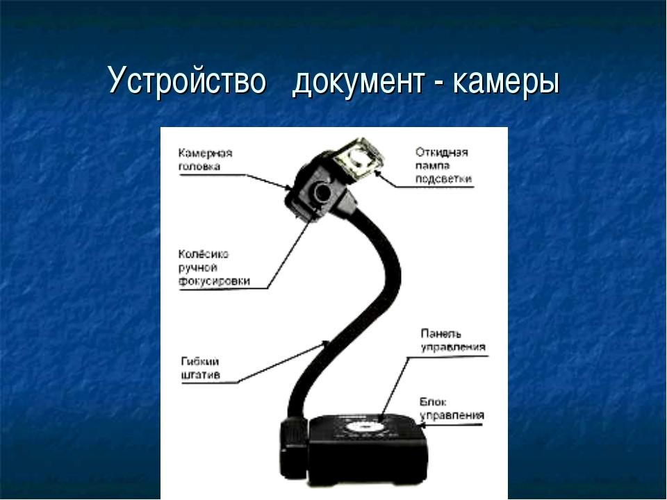 Устройство документ - камеры