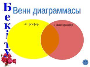 Ақ фосфор Қызыл фосфор