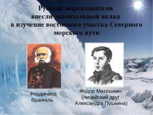 Русские мореплаватели внесли значительный вклад в изучение восточного участка