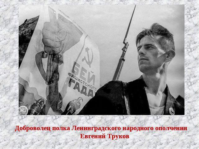 Доброволец полка Ленинградского народного ополчения Евгений Труков