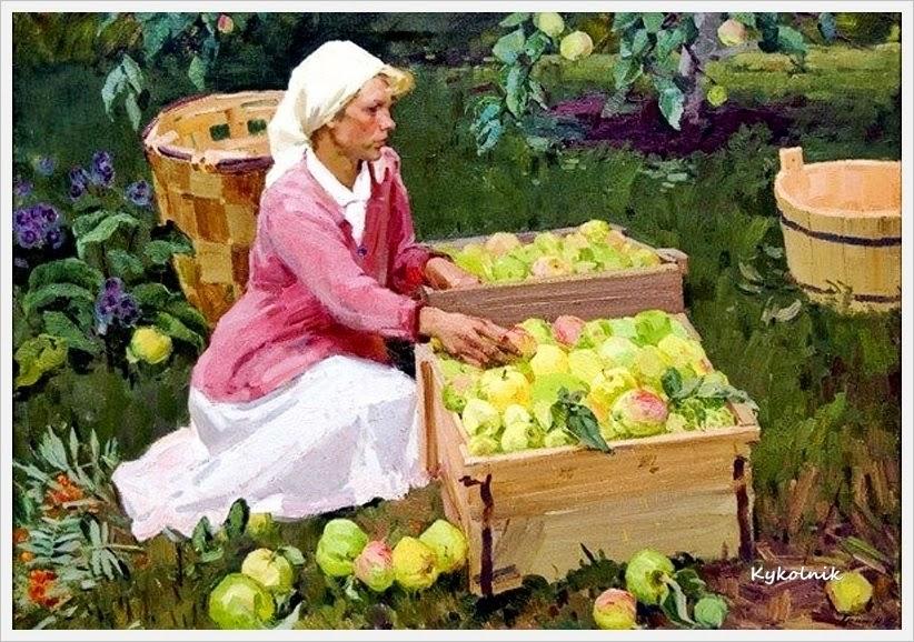 2 Гришин Геннадий Петрович (Россия, 1932-2009) «Сбор яблок».jpg