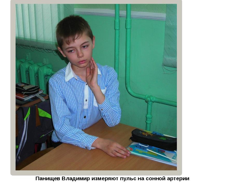 Панищев Владимир измеряют пульс на сонной артерии