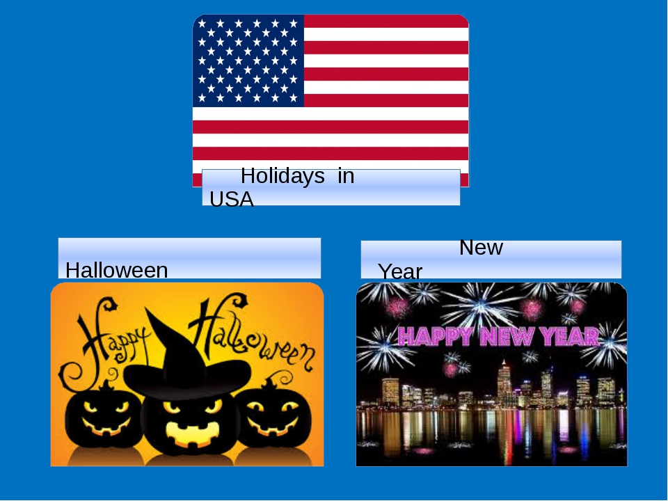 Halloween New Year Holidays in USA
