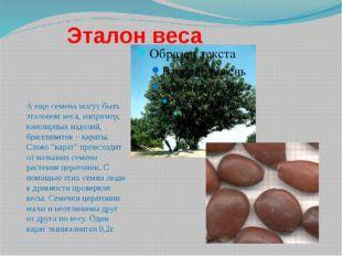 Эталон веса А еще семена могут быть эталоном веса, например, ювелирных издел