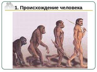 1. Происхождение человека Естественно-научное объяснение происхождения челове
