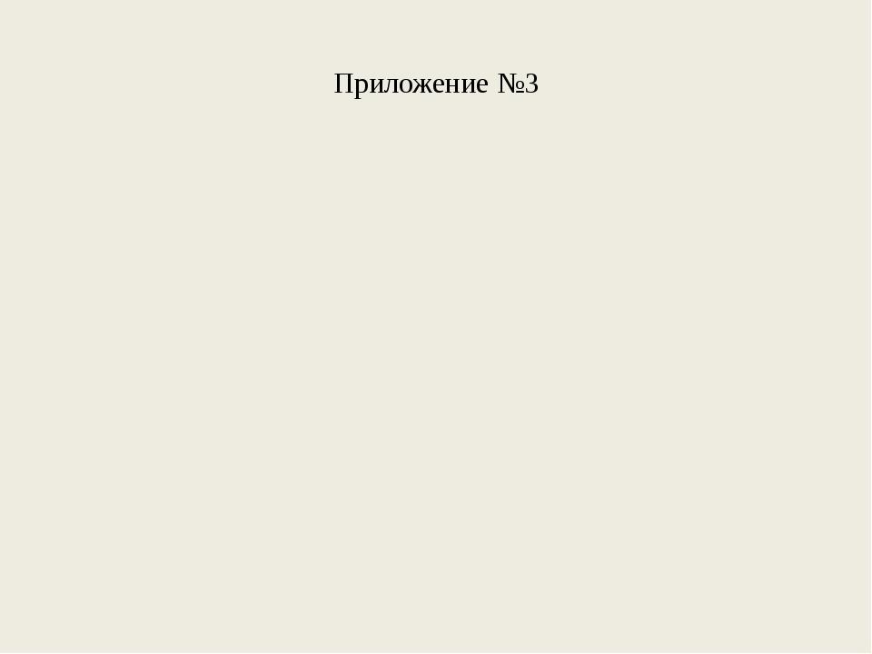 Приложение №3