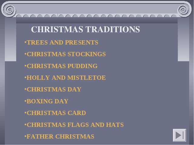 CHRISTMAS TRADITIONS TREES AND PRESENTS CHRISTMAS STOCKINGS CHRISTMAS PUDDING...