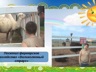 Посетил фермерское хозяйство «Великолепный страус»