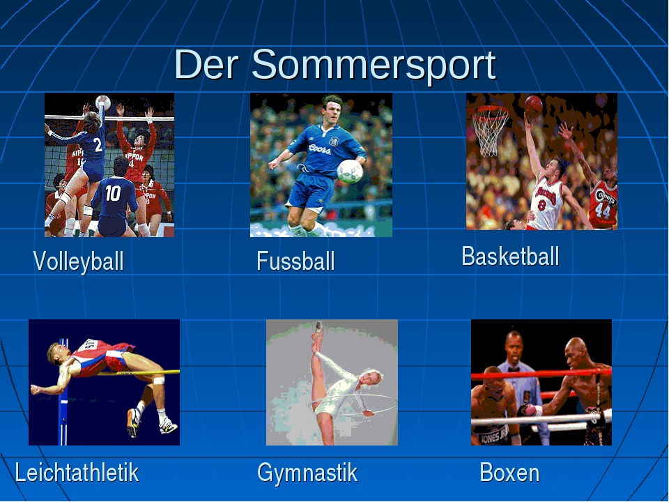 Der Sommersport Volleyball Fussball Basketball Leichtathletik Boxen Gymnastik