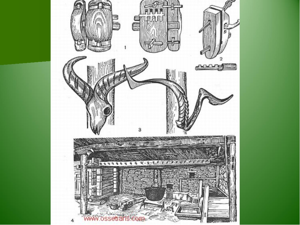 осетинский дом рисунок этих задач могут
