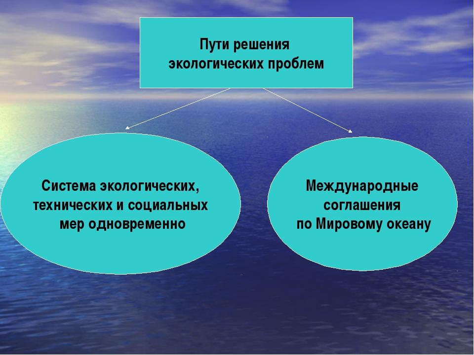 Пути решения экологических проблем Система экологических, технических и социа...
