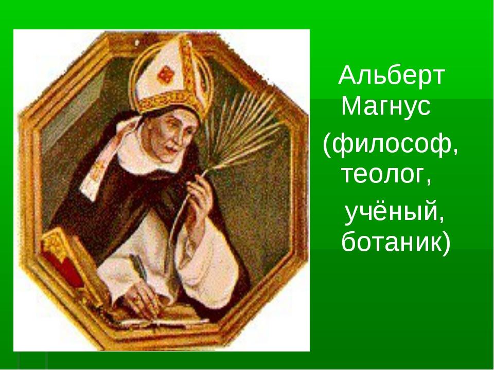 Альберт Магнус (философ, теолог, учёный, ботаник)