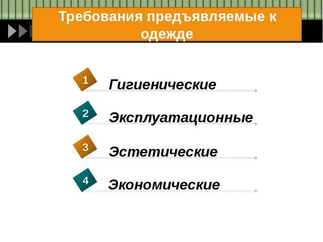 Contents Требования предъявляемые к одежде Гигиенические 1 Эксплуатационные 2...