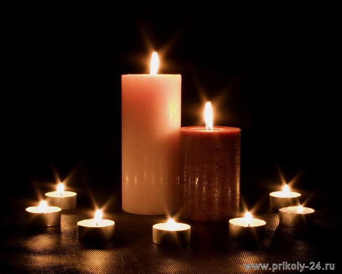 Фотографии горящих свечей (40 штук)