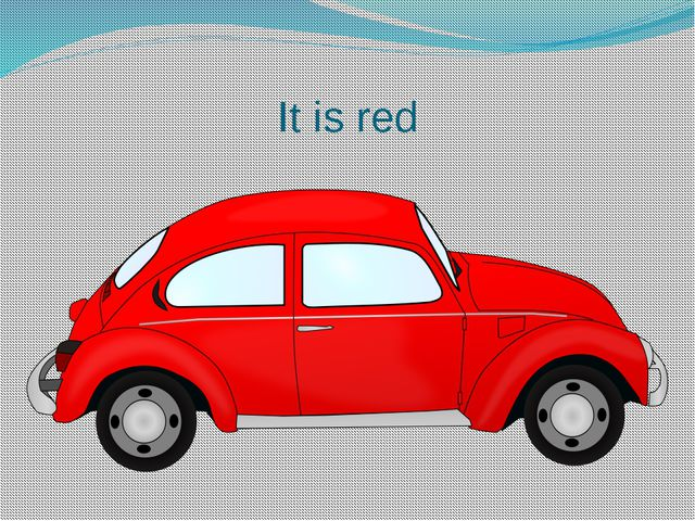 It is red