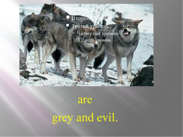 are grey and evil.