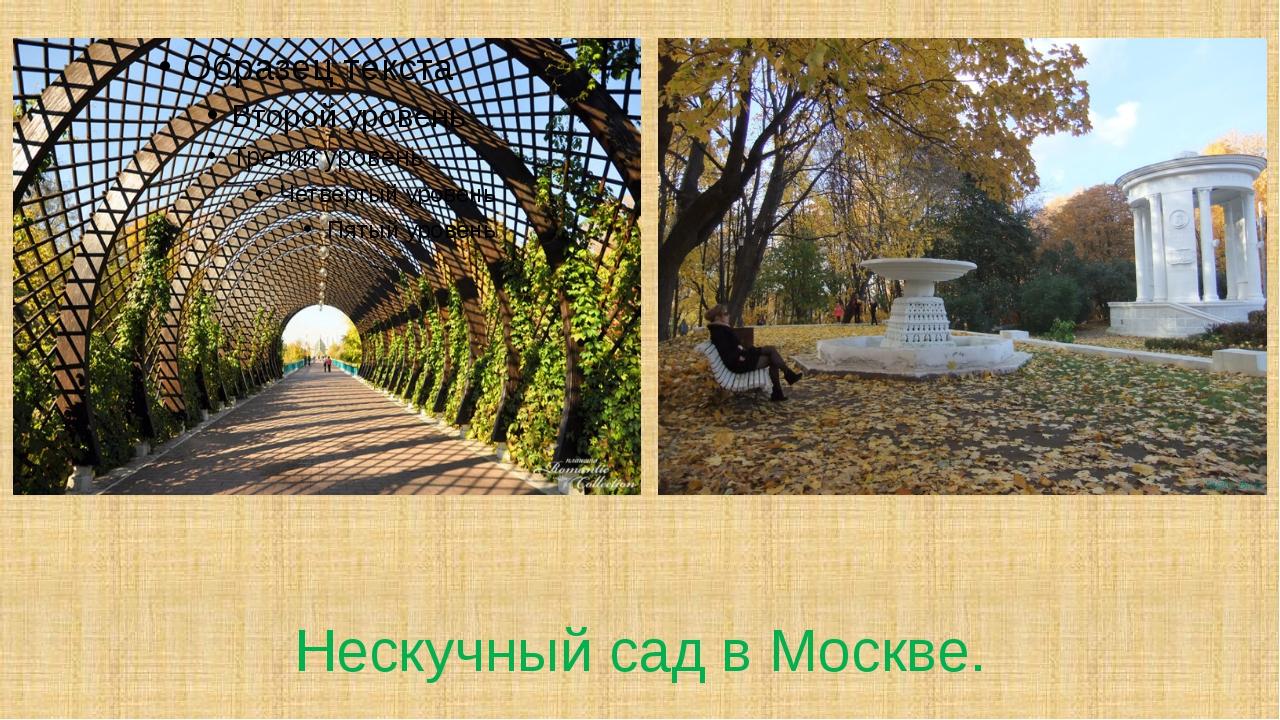 Нескучный сад в Москве.