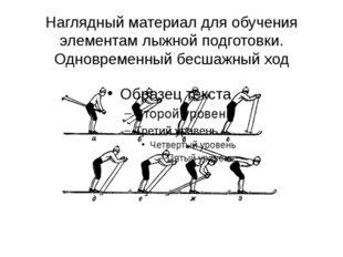 Наглядный материал для обучения элементам лыжной подготовки. Одновременный бе
