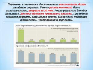 Перемены в экономике. Россия начала выплачивать долги западным странам. Темп
