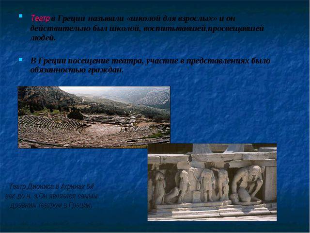 Театр Диониса в Афинах 5й век до н. э.Он является самым древним театром в Гре...