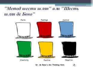 """""""Метод шести шляп"""" или """"Шесть шляп де Боно"""""""