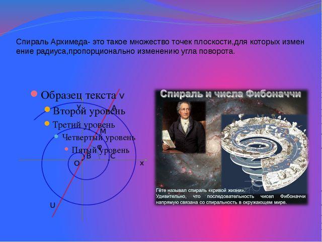 Спираль Архимеда- это такое множество точек плоскости,для которых изменение р...