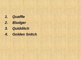 Quaffle Bludger Quidditch Golden Snitch