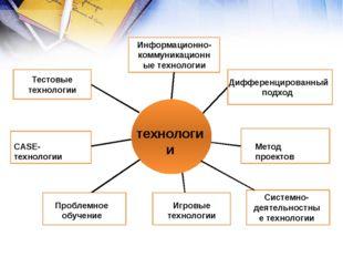 технологии Информационно-коммуникационные технологии Дифференцированный подх