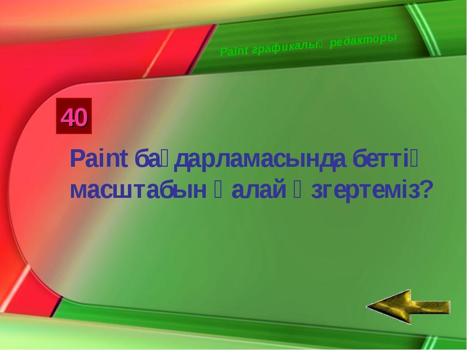 Paint графикалық редакторы 40 Paint бағдарламасында беттің масштабын қалай өз...