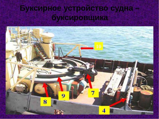 Буксирное устройство судна – буксировщика 10