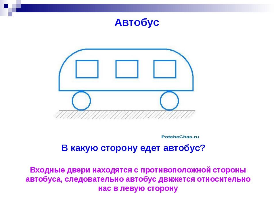 Загадка по картинке куда едет автобусов
