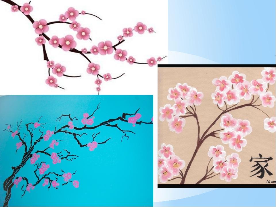 Поэтапное нарисованные сакуры