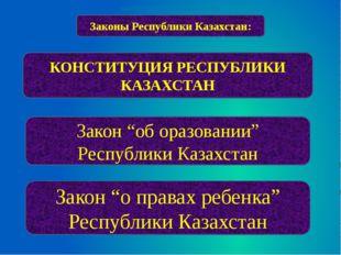 """Законы Республики Казахстан: КОНСТИТУЦИЯ РЕСПУБЛИКИ КАЗАХСТАН Закон """"об оразо"""