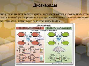 Сложные углеводы, или полисахариды, характеризуются усложненным строением мол