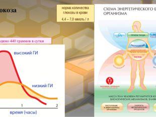 Глюкоза норма количества глюкозы в крови 4,4 – 7,0 ммоль / л необходимо 440 г