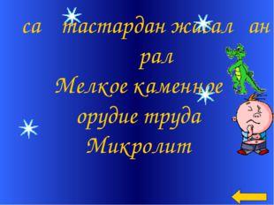 Ұсақ тастардан жасалған құрал Мелкое каменное орудие труда Микролит