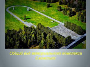 Общий вид мемориального комплекса Саласпилс