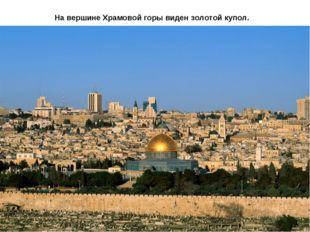 На вершине Храмовой горы виден золотой купол.
