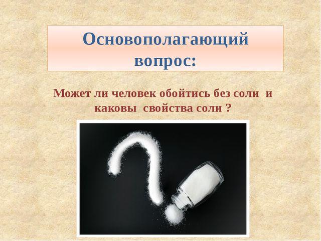 Может ли человек обойтись без соли и каковы свойства соли ? Основополагающий...