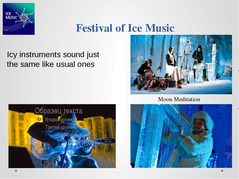 Festival of Ice Music Icy instruments sound just the same like usual ones Moo...