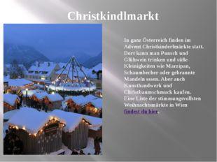 Christkindlmarkt In ganz Österreich finden im Advent Christkinderlmärkte stat