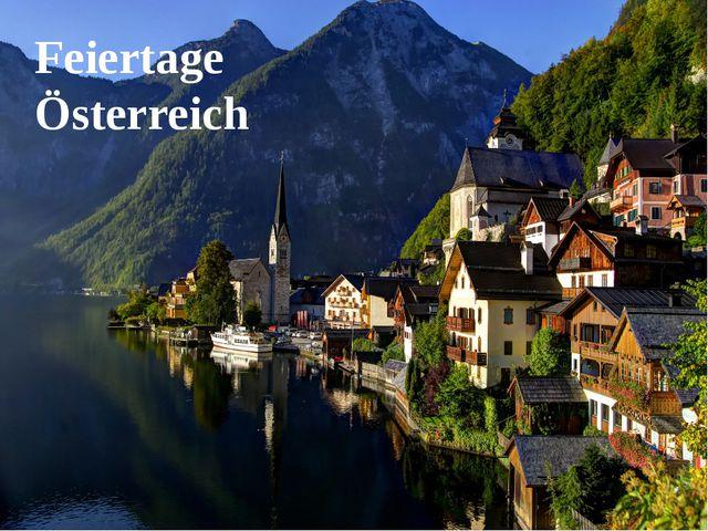 Feiertage Österreich